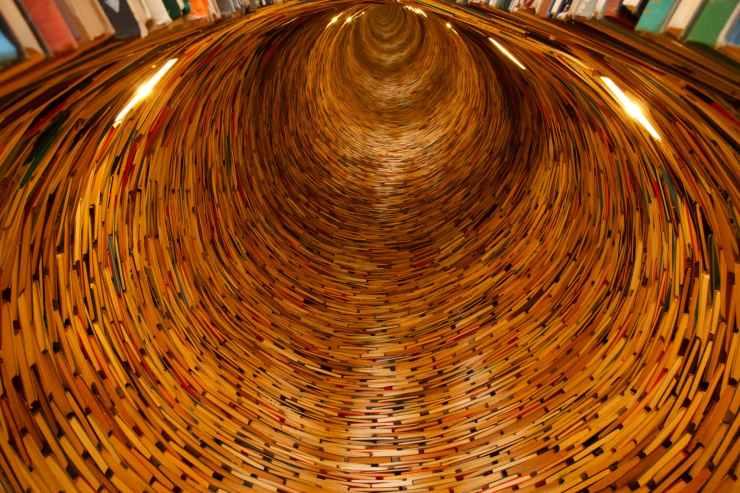 books tunnel school endless